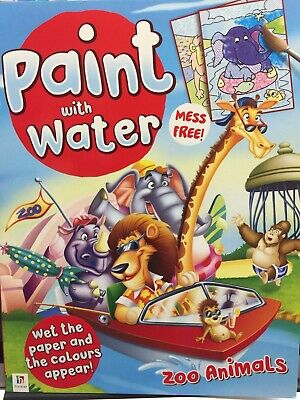 New - Paint With Water - Zoo Animals - 16 Pictures