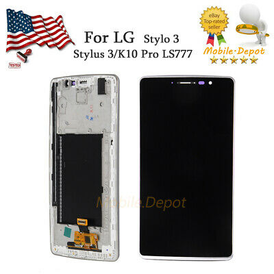 For LG Stylo 3 Stylus 3 LS777 OEM  LCD Touch Screen Digitizer Frame Replacement