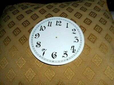 "Round Paper (Card) Clock Dial - 5"" M/T- Ornate Arabic -GLOSS WHITE-Parts/Spares"