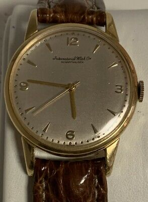 18K International Watch Co Schaffhausen Vintage Manual Wind 36Mm Watch Iwc