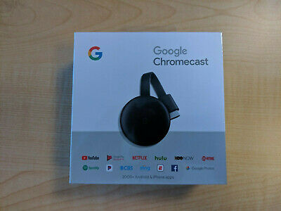 Google Chromecast Streaming Media Player (3nd Gen)  BRAND NEW FACTORY SEALED