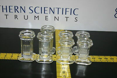 Wheaton 5 Slide Vertical Glass Coplin Staining Jar (lot of 7)