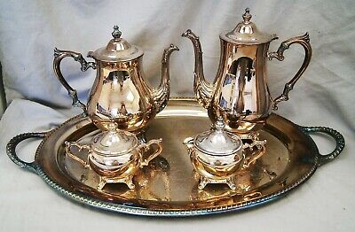 Full Set Coffee & Tea Service CHIPPENDALE Silverplate International Silver A9118