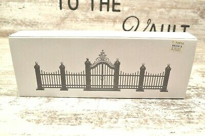 Department 56 Christmas Series Village Wrought Iron Gate and Fence