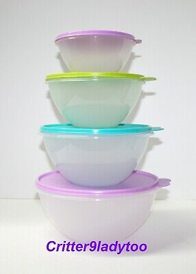 NEW Tupperware Lot of Classic Wonderlier Bowls 4 piece set