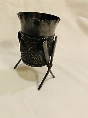 Antique Victorian James W. Tufts quadruple plate toothpick holder Shell Oars