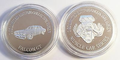 """FORD FALCON GT"" Muscle Car Series 1 0z HSE 999 Silver Coin/token LTD 2,500"