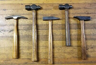 Rare ANTIQUE Blacksmith Tools Lot • HAMMERS Ball Pein Anvil Tinsmith Forge ☆USA