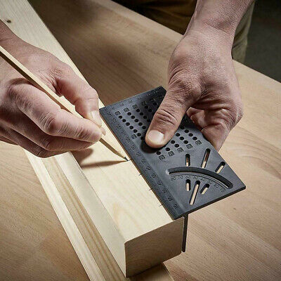 Woodworking Ruler 3D Mitre Angle Measuring Gauge Square Size Measure Tool Hot