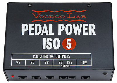 USED Voodoo Lab Pedal Power ISO 5 Guitar Effect Pedal Power Supply