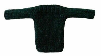 Clothes for Barbie Doll Handmade Knit Wool Blend Boat Neck Sweater Hunter Green