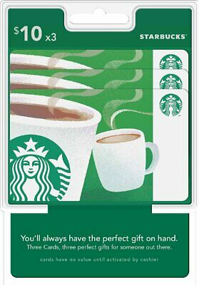 Starbucks Gift Card $30 Email Delivery Send 3 x $10 OR 2 x $15 Fast Convenient