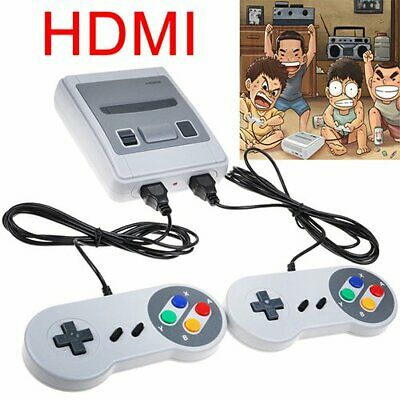 Retro HDMI TV Video Games Console 621 games SNES + 2x Game Controllers UK