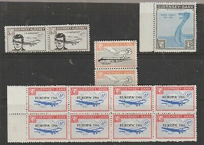 4 Lots Of  Stamps  From Guernsey To Sark And Alderney 1966.