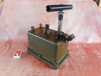 Australian Army 2Nd World War 1942 Exploder Dynamo Old Antique Soldier Equipment