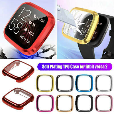 2 PACK For Fitbit Versa 2 TPU Full Screen Protective Cover Case Accessories NEW
