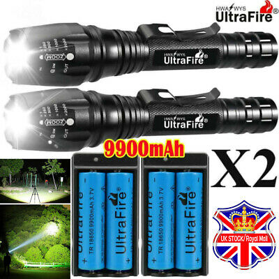 900000LM T6 LED Rechargeable High Power Torch Flashlight Lamps Light & Charger ☆
