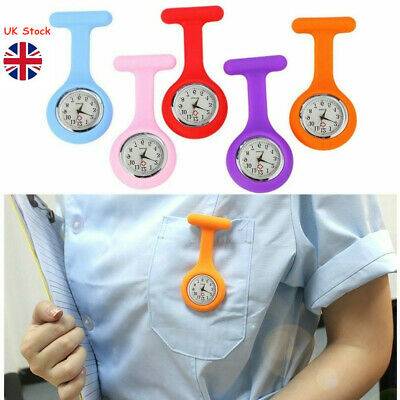 Silicone NURSE WATCH Hospital GP Medical Doctor Vet Fob Watch Uniform Costume UK