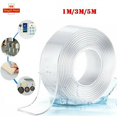 Washable Adhesive Tape Nano Double Sided Gel Reusable Anti-Slip Traceless Tape