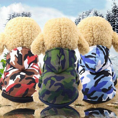 Pet Dog Hoodie Camo Clothes Puppy Coat Apparel for Smalll Medium Large Dogs