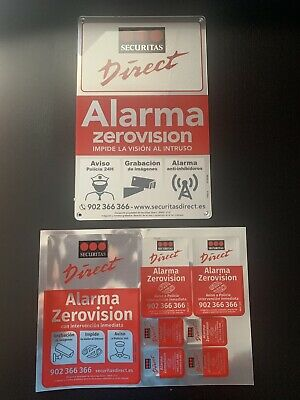 Placa mediana + pegatinas securitas Direct. Modelo 2018 Alarma Verisure