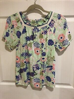 435 By Matilda Jane Youth Girl's S/S Shirt Size 14 Floral Exc Cond