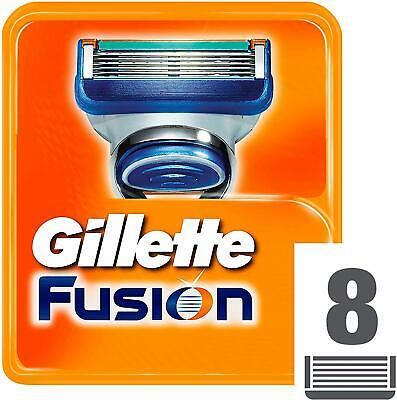 Gillette Fusion5 Razor Blades for Men, 4 or 8 Refills - Brand New - 100% Genuine