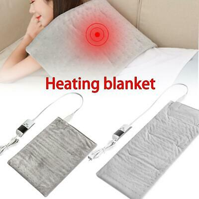 Electric Heating Pad Heat Therapy Fast Body Neck Pain Relief Auto Off