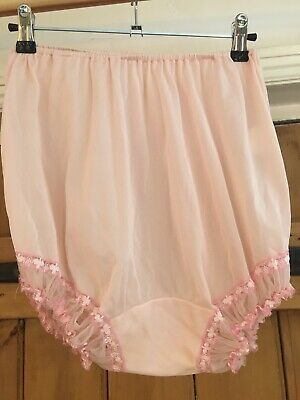 Vintage Pink Frilly Knickers / Pants