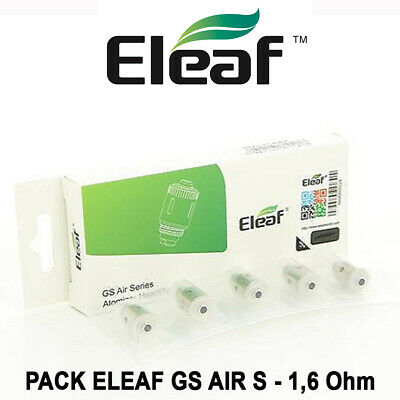 5 résistances ELEAF GS AIR S - 1,6 Ohm - pour gamme GS AIR, GS DRIVE, GS TURBO