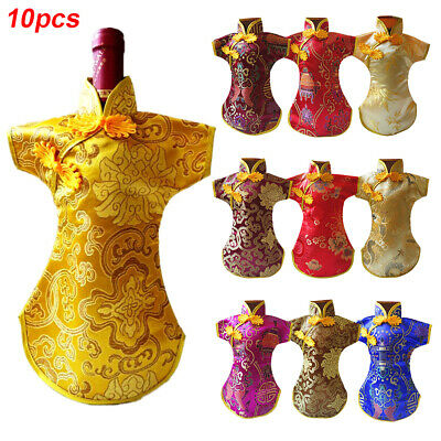 Chinese Style Gifts Durable Party Tang Dress Embroidery Dinner Wine Bottle Cover