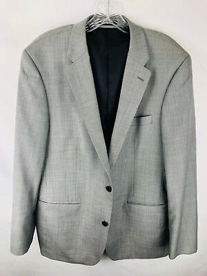 Alfani Gray 2 Button Lined Suit Jacket Blazer Wool Blend EUC Men's Size 40