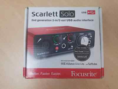 Scarlett Solo 2nd Gen Audio Interface Boxed - AH 70627