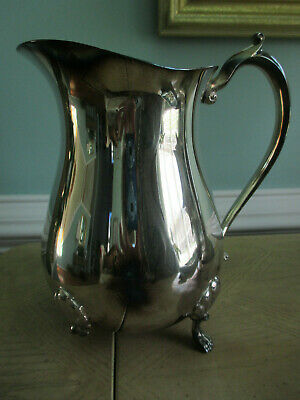 Silver Plated water Pitcher with Ice Lip Leonard
