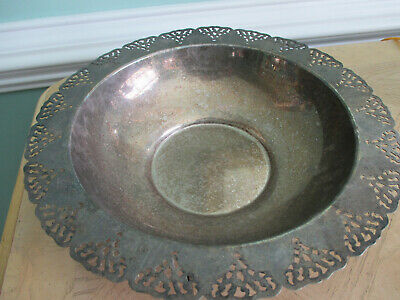 """Silver Plated Bowl 12"""" Home Decorators Inc"""