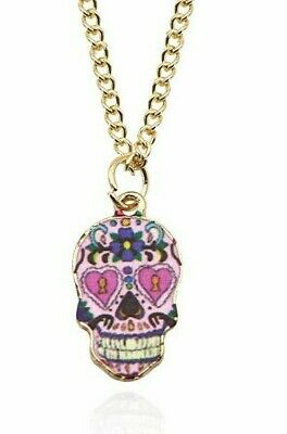 Sugar Skull Day Of The Dead Necklace 3 Different Colors Free Shipping! Calavera