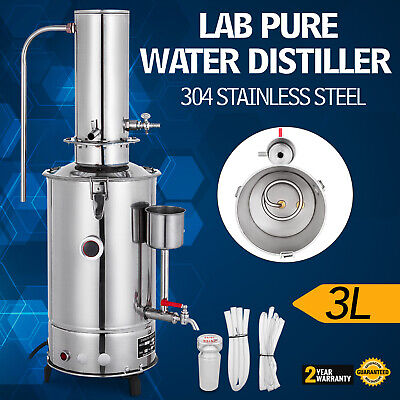 3L/H Lab Pure Water Distiller Stainless Steel Water Purifier Easy Install