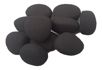 15 Mat Black Pebbles Replacement Gas Fire Coals Real Flame fires