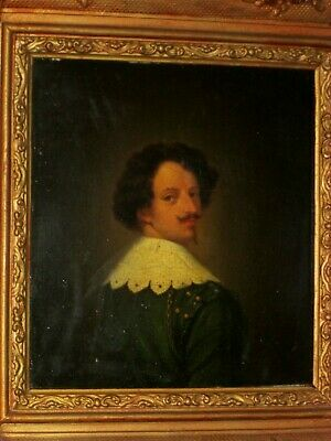 A 17th century portrait of a gentleman, antique oil painting on an oak panel.