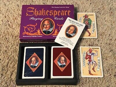 Shakespeare Playing Cards 2 decks 1 deck brand new sealed Deluxe Double Bridge