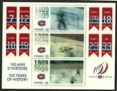 CANADA 2009 V.F. MNH SS Plastic Affixed Pane of 3 x 3D Stamps Scott # 2340a-c