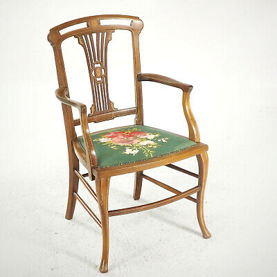 Antique Salon Armchair (delivery £40) Edwardian Mahogany Inlaid