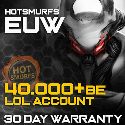 League of Legends Account EUW LOL Smurf 40000 BE IP Unranked Level 30 PC