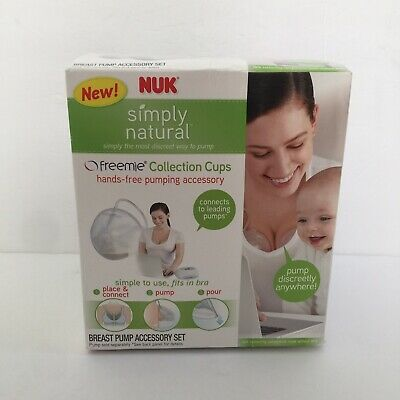 New NUK Simply Natural Freemie Collection Cups Hands-Free Pumping Accessory