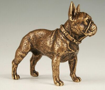 Vintage China Bronze Statue Lucky Foo Dog Mascot Home Decoration Gift Collection