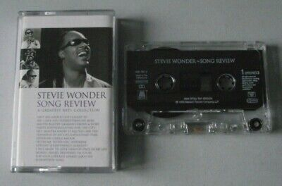STEVIE WONDER - SONG REVIEW (A GREATEST HITS COLLECTION) music cassette tape