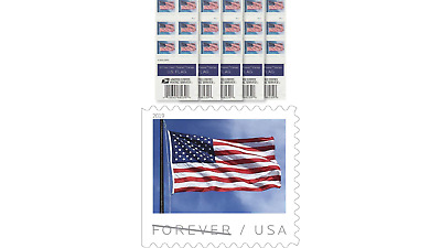 USPS US Flag 2019 Forever First Class Postage Stamps (Book of 100)
