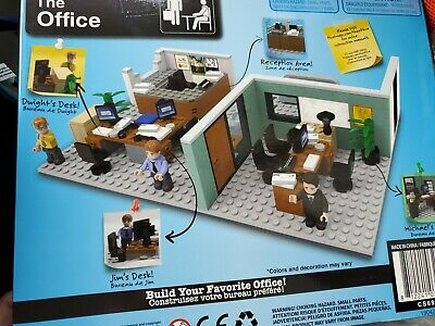 THE OFFICE Dunder Mifflin Branch Construction Set Lego NEW playset SHIPS QUICKLY