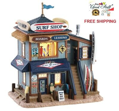 NEW 2018 Lemax Village Building Collection Skip's Surf Shop Christmas Decor Gift