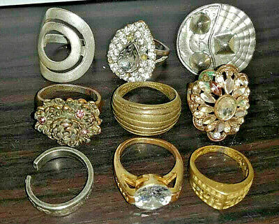 LOT of 9 pcs ANCIENT ROMAN, BYZANTINE AND MEDIEVAL FINGER SILVER BRONZE RINGS+++